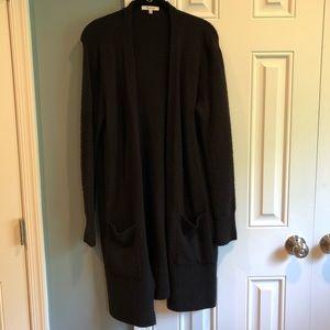 Madewell size XS black long super soft sweater
